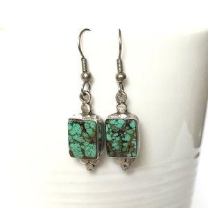 Jewelry - Sterling Silver Southwestern Turquoise Earrings